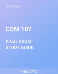 COM 107 Study Guide - Comprehensive Final Exam Guide - William Randolph Hearst, United States Congress, New York City