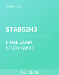 STAB52H3 Study Guide - Comprehensive Final Exam Guide -