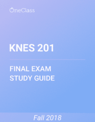 KNES 201 Study Guide - Comprehensive Final Exam Guide - Disability, Canada, Weight Loss
