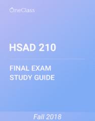 HSAD 210 Study Guide - Comprehensive Final Exam Guide - Farjana, Ethics, Bioethics