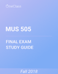 MUS 505 Study Guide - Comprehensive Final Exam Guide - Rock And Roll, Rhythm And Blues, Electric Guitar
