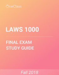 LAWS 1000 Study Guide - Comprehensive Final Exam Guide - Canada, Social Science, Mirror