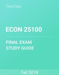 ECON 25100 Study Guide - Comprehensive Final Exam Guide - Volt-Ampere, Hove, Confidence Trick