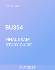BU354 Study Guide - Comprehensive Final Exam Guide - New Zealand Labour Party, Job Performance, Job Analysis