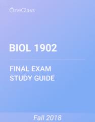 BIOL 1902 Study Guide - Comprehensive Final Exam Guide - Wasp, Terpenoid, Stamen
