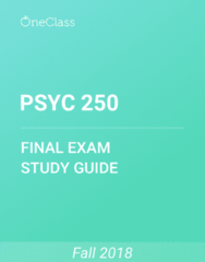 PSYC 250 Study Guide - Comprehensive Final Exam Guide - Collectivism, Social Psychology, Heuristics In Judgment And Decision-Making