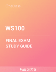 WS100 Study Guide - Comprehensive Final Exam Guide - Canada, White People, Birth Control