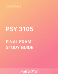 PSY 3105 Study Guide - Comprehensive Final Exam Guide - Canada, Adolescence, Syndrome