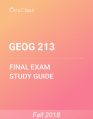GEOG 213 Study Guide - Comprehensive Final Exam Guide - Canada, Asia, Agriculture