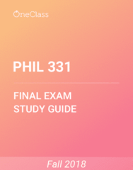 PHIL 331 Study Guide - Comprehensive Final Exam Guide - Exegesis, Ethics, Reading Company
