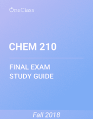 CHEM 210 Study Guide - Comprehensive Final Exam Guide - Page 3, Order Of Australia, New Zealand Am Class Electric Multiple Unit