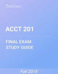 ACCT 201 Study Guide - Comprehensive Final Exam Guide - Income Statement, Retained Earnings, Accounts Payable