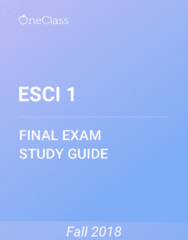 ESCI 1 Study Guide - Comprehensive Final Exam Guide - Earth, Oxygen, Ecosystem