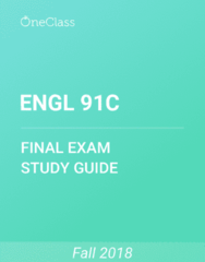 ENGL 91C Study Guide - Comprehensive Final Exam Guide - Dracula, Station Eleven, Speculative Fiction