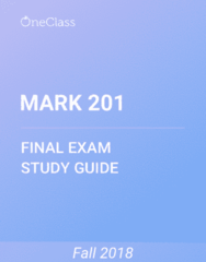 MARK 201 Study Guide - Comprehensive Final Exam Guide - Virtual Machine, University Of Florida, Thyroid Hormone Receptor Beta