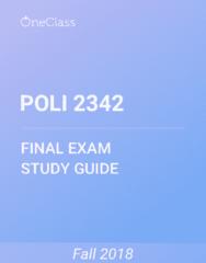POLI 2342 Study Guide - Comprehensive Final Exam Guide - Puritans, Protestantism, Kingdom Of England