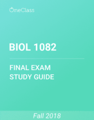 BIOL 1082 Study Guide - Comprehensive Final Exam Guide - Reading Company, Protein, Phylogenetic Tree
