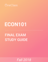ECON101 Study Guide - Comprehensive Final Exam Guide - Marginal Cost, Demand Curve, Opportunity Cost