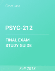 PSYC-212 Study Guide - Comprehensive Final Exam Guide - Dependent And Independent Variables, Informed Consent, Social Desirability Bias