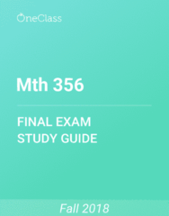 Mth 356 Study Guide - Comprehensive Final Exam Guide - Nave, If And Only If, Old Testament