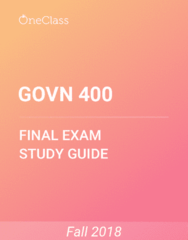 GOVN 400 Study Guide - Comprehensive Final Exam Guide - Sustainable Development, Social Capital, Organizational Culture