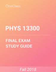 PHYS 13300 Study Guide - Comprehensive Final Exam Guide - Time, Tasmanian Government Railways Y Class, Six Degrees Of Freedom