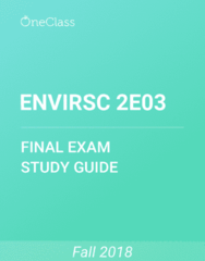 ENVIRSC 2E03 Study Guide - Comprehensive Final Exam Guide - List Of Rocks On Mars, Sedimentary Rock, Sediment