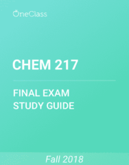 CHEM 217 Study Guide - Comprehensive Final Exam Guide - Euclidean Vector, Potential Energy, Oxygen