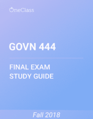 GOVN 444 Study Guide - Comprehensive Final Exam Guide - Canada, Democracy, Capitalism