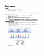 MCD BIO 165A Chapter Notes - Chapter ubiquitination: Ubiquitin, Proteasome