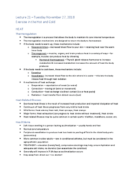 KNES 372 Lecture Notes - Lecture 21: Heat Syncope, Heat Illness, Heat Stroke