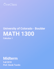 MATH 1300 Study Guide - Comprehensive Midterm Notes -