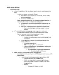 BIOA01H3 Lecture Notes - Lecture 39: Bovine Spongiform Encephalopathy, Transmissible Spongiform Encephalopathy, Chorea
