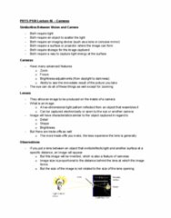 PHYS-P 150 Lecture Notes - Lecture 46: Zoom Lens, Curved Mirror, Digital Image