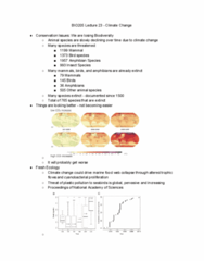 BIO205H5 Lecture Notes - Lecture 23: Conservation Biology
