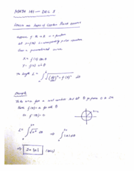 MATH 141 Lecture 43: MATH 141 - Lecture 43 - DEC 3