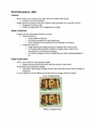 PHYS-P 150 Lecture Notes - Lecture 47: Time-Lapse Photography
