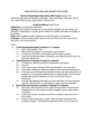 COMM 205 Final: COMM 205 - BIG QUESTION FORMATS