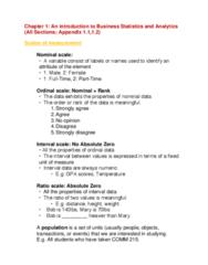 COMM 215 Study Guide - Midterm Guide: Level Of Measurement, Business Statistics, Data Set