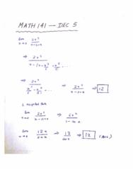MATH 141 Lecture 44: MATH 141 - Lecture 44 - DEC 5