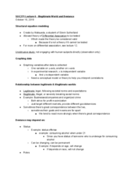 SOC 271 Lecture Notes - Lecture 6: Structural Equation Modeling, Edwin Sutherland, Status Offense