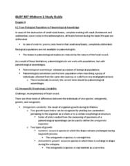 GLGY 307 Study Guide - Midterm Guide: Mutation, Formaldehyde, Stromatolite