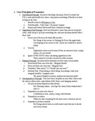 ECON 101 Final: Study Guide
