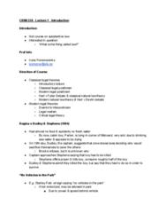 CRIM 338 Lecture Notes - Lecture 1: Legal Positivism, Legal Realism, Antipositivism