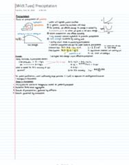 CH ENGR C125 Lecture 9: Precipitation