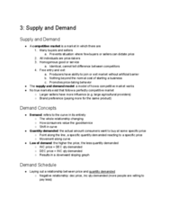 ECON 101 Chapter Notes - Chapter 3: Demand Curve, Perfect Competition, Negative Relationship