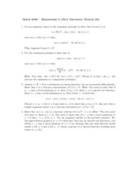 MA 3065 Lecture Notes - Lecture 8: Maximum Principle, Maxima And Minima, Viscosity Solution