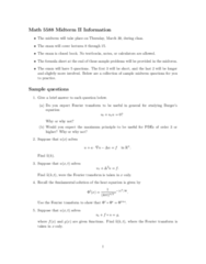 MA 3065 Study Guide - Midterm Guide: Maximum Principle, Fundamental Solution, Heat Equation