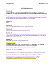 COMMERCE 1AA3 Study Guide - Final Guide: Amortization Schedule, Interest Expense, Current Asset