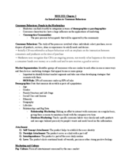 Management and Organizational Studies 3321F/G Chapter Notes - Chapter 1: Peer Pressure, Psychographic